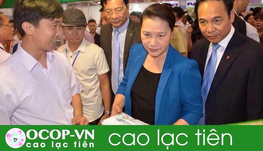 Chủ tịch Quốc hội Nguyễn Thị Kim Ngân thăm gian hàng của Nam Dược Y Võ – OCOP